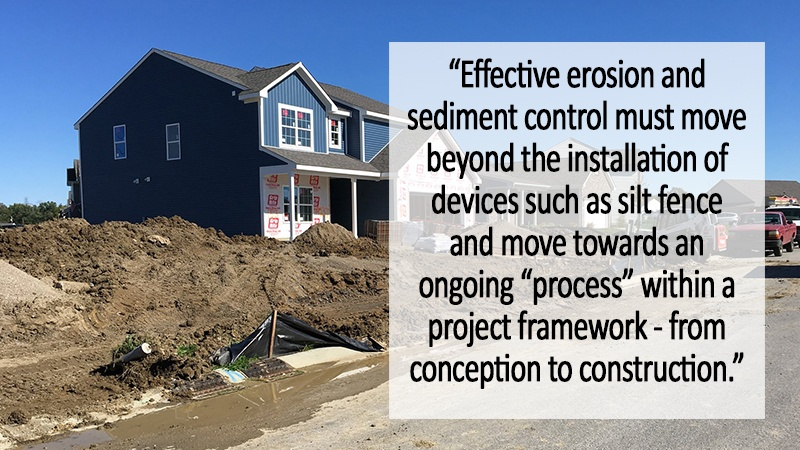 Construction erosion sediment control process