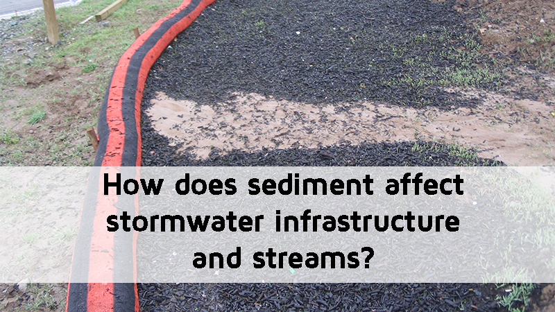 How does sediment affect stormwater infrastructure and streams?