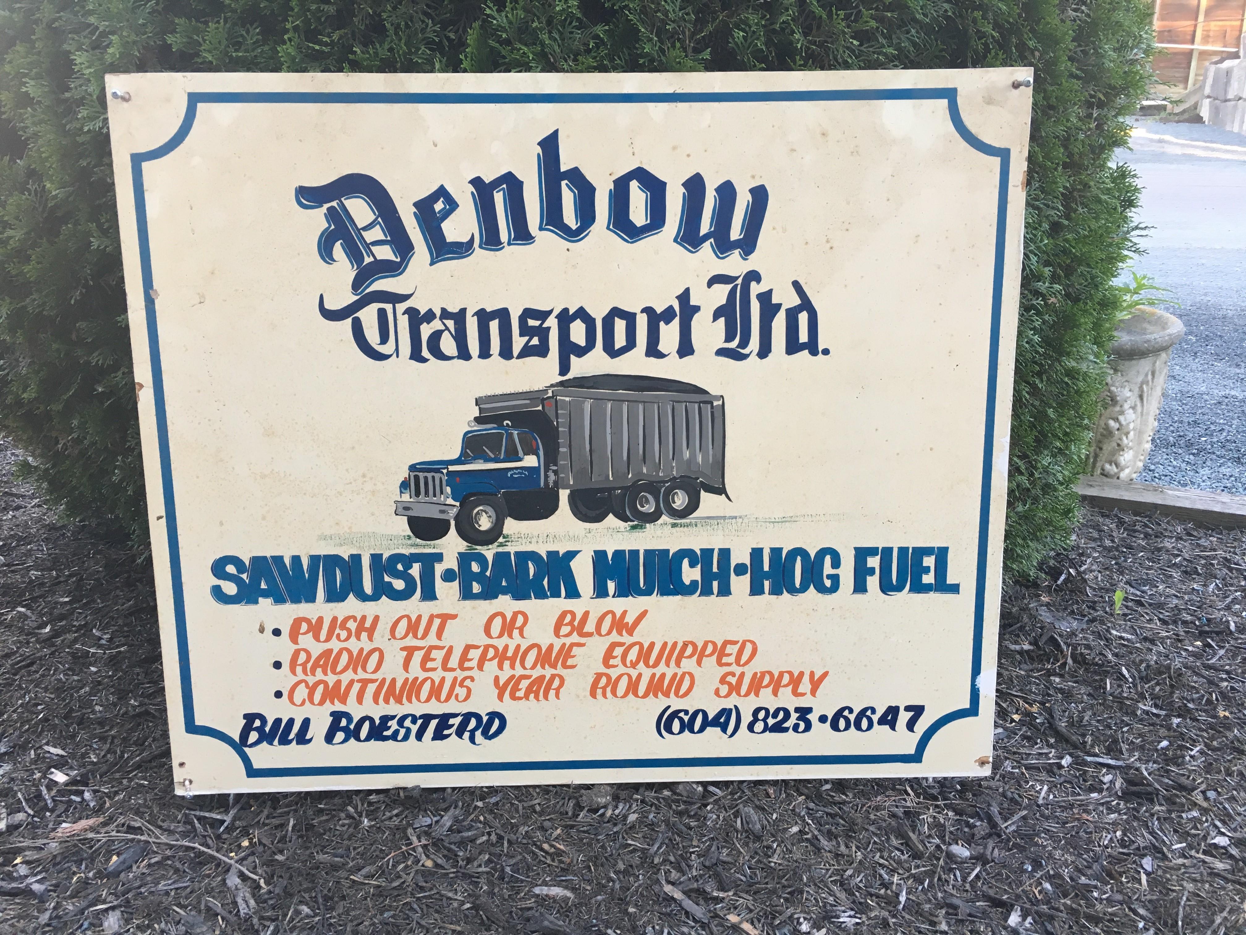 Vintage Denbow Sign 3