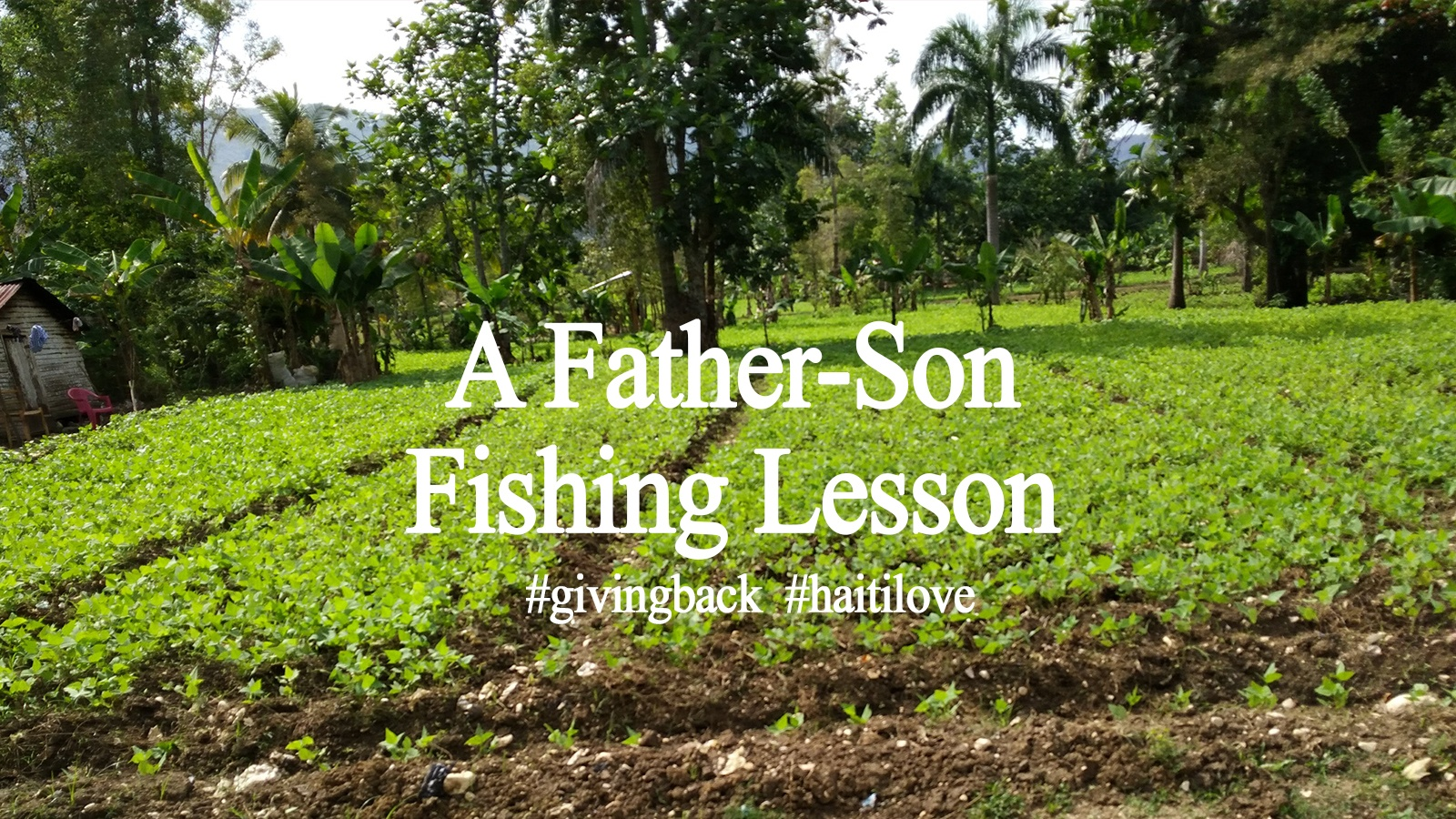 a father son fishing lesson