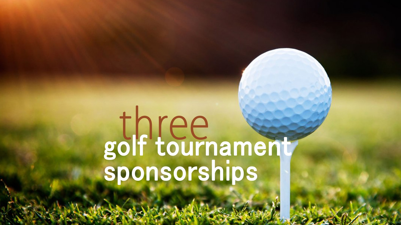 golf sponsorships