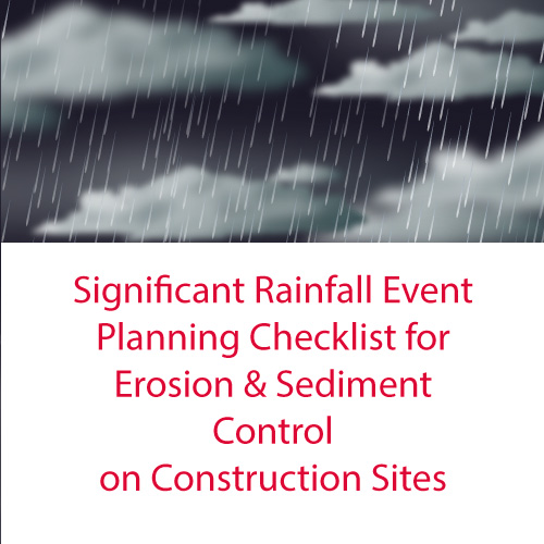 Significant Rainfall Event Planning Checklist