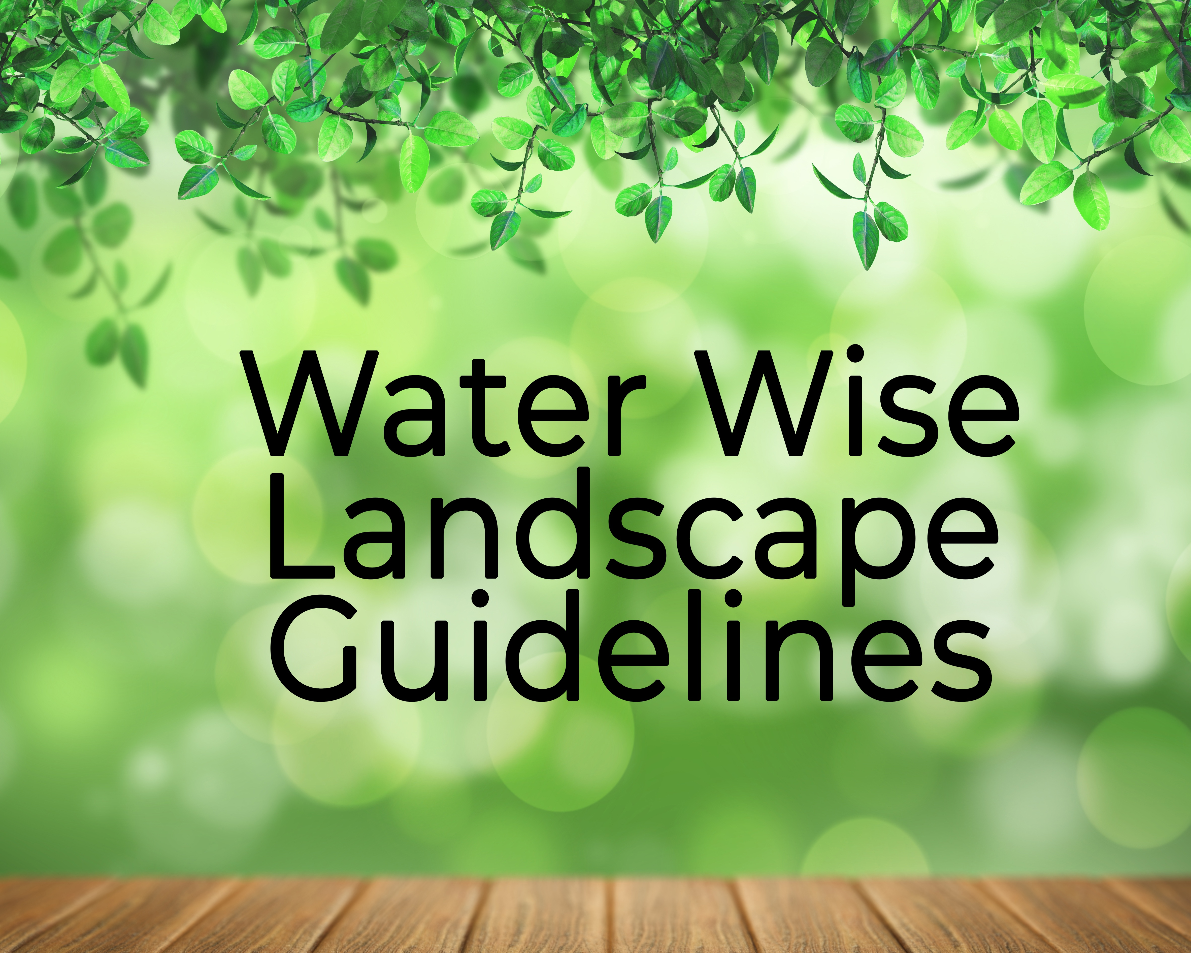 water wise guidelines